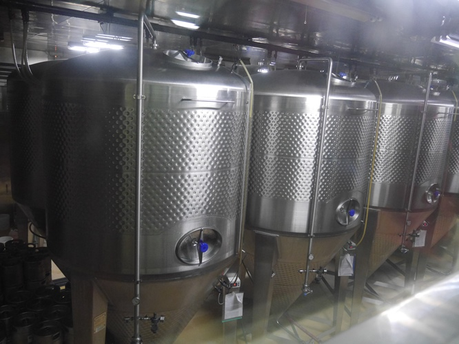 コエドブルワリーの熟成タンク