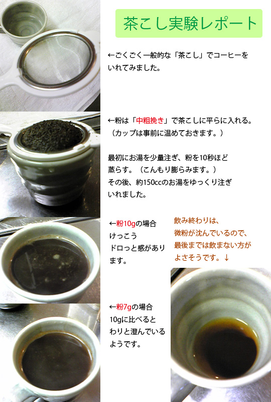 茶こし実験