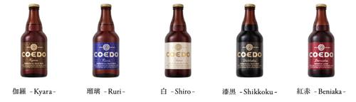コエドビール5種類
