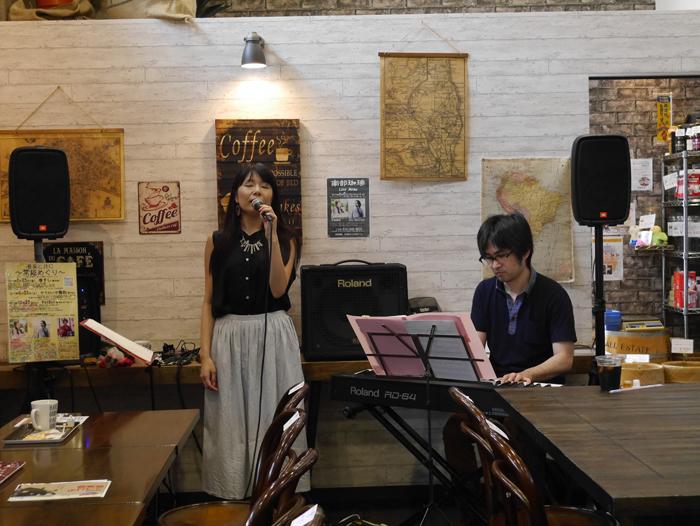 2017年8月6日石塚美咲さんJohnNakayamaさんカフェライブ